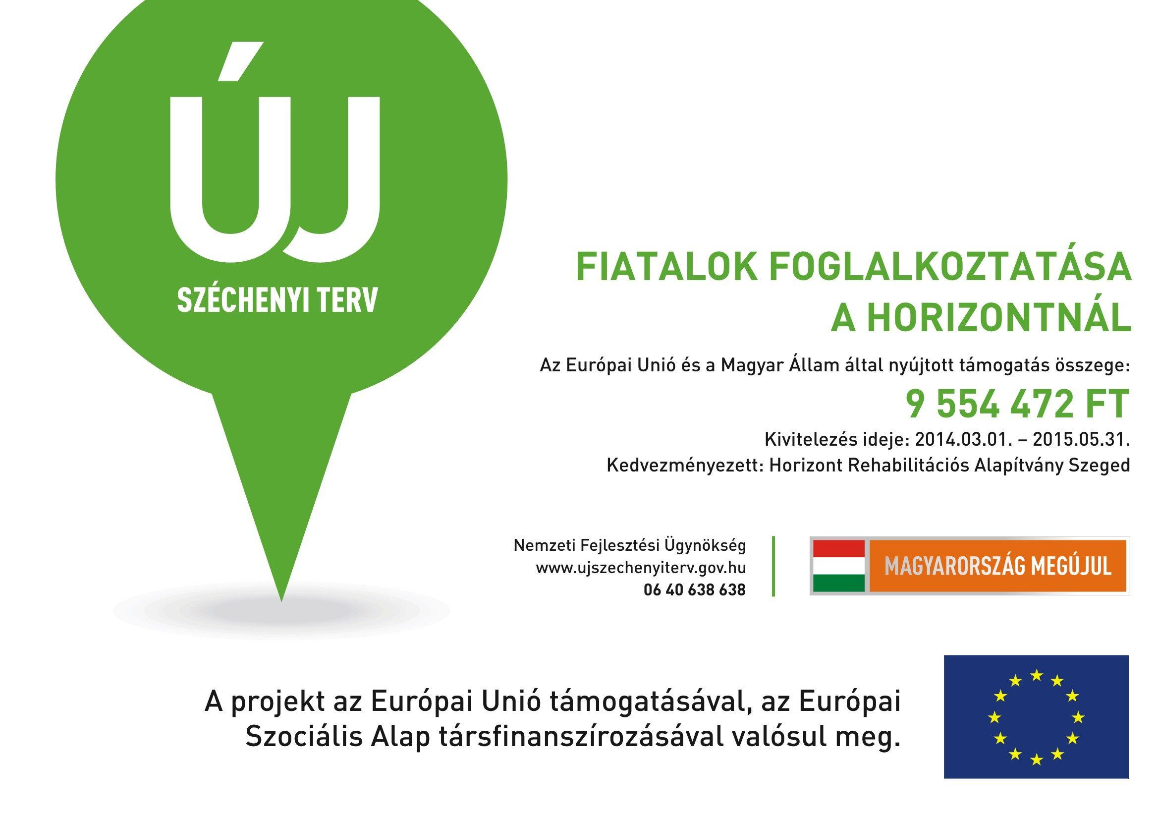 """""""Fiatalok foglalkoztatása a Horizontnál"""" – TÁMOP 1.4.1-12/1-2013-0065"""